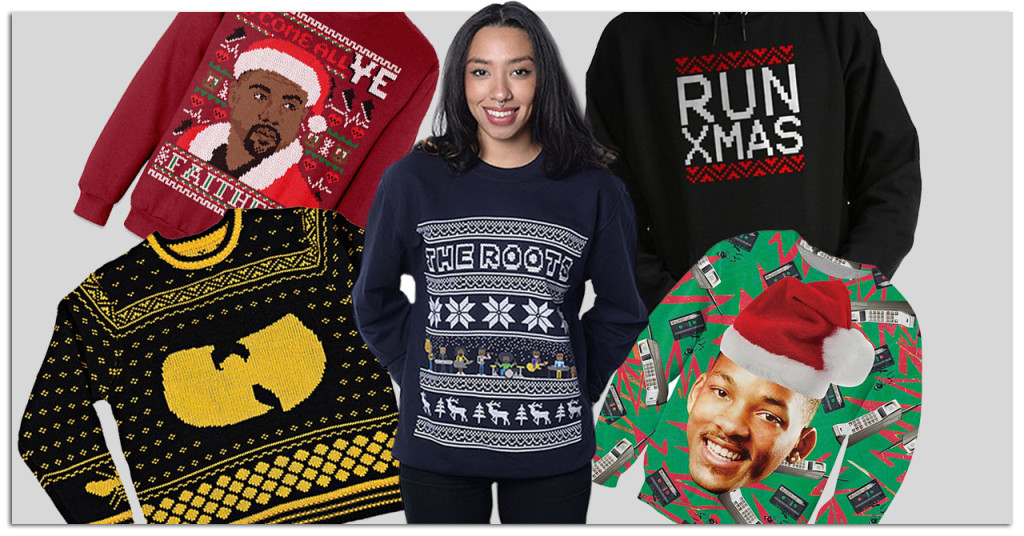 hip hop ugly christmas sweaters, ugly sweaters hip hop, old school ugly sweaters