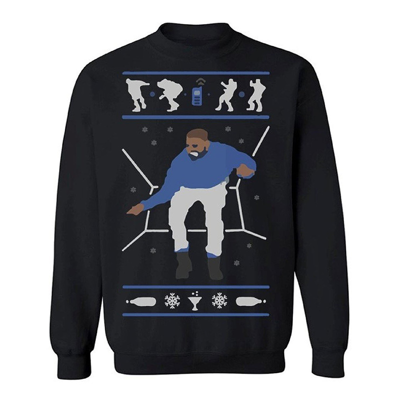 hip hop ugly christmas sweaters, drake hotline bling ugly sweater
