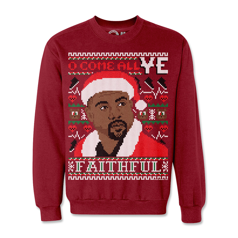 hip hop ugly christmas sweaters, kanye west ugly sweater