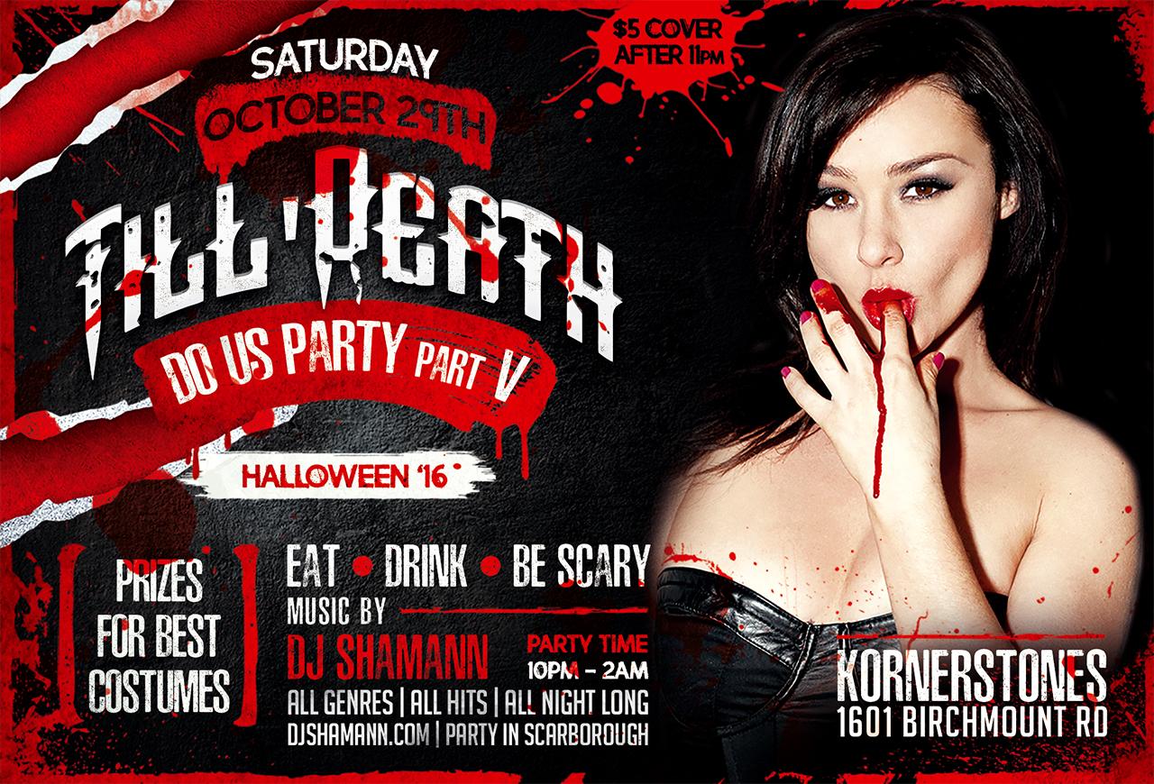 Till Death Do Us Party! The Annual Halloween Bash With Dj Shamann
